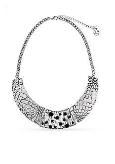 Erica Lyons Silver-Tone Animal House Collar Necklace