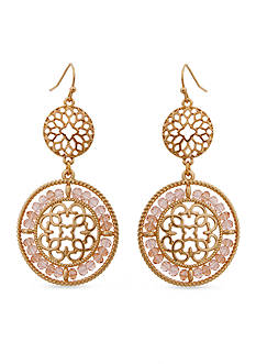 Erica Lyons Gold-Tone Double Drop Earrings