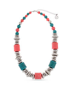 Erica Lyons Silver-Tone South West Spirit Strand Necklace