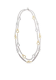 Erica Lyons Two-Tone Lets Do The Twist Collection Double Row Necklace