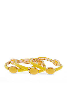 Erica Lyons Sunshine Yellow Collection 3-Piece Bracelet Set