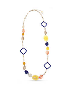 Erica Lyons Gold-Toned Hello Sailor Chunky Bead Long Necklace