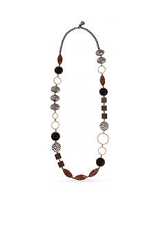 Erica Lyons Silver-Tone Welcome to the Jungle Long Strand Necklace