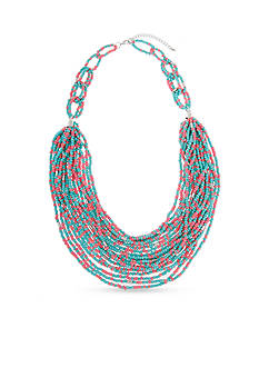 Erica Lyons Silver-Tone South West Spirit Statement Necklace