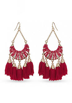 Erica Lyons Gold-Tone Queen of De Nile Tassel Chandelier Earrings