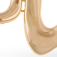 Jewelry & Watches: Erica Lyons Fashion Jewelry: Gold Erica Lyons Melt Organic Open Shape Collar Necklace