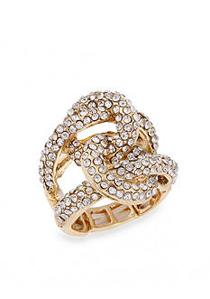 Erica Lyons Crystal Knot Stretch Ring