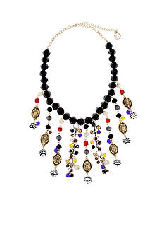 Erica Lyons Gold-Tone Queen of De Nile Statement Necklace