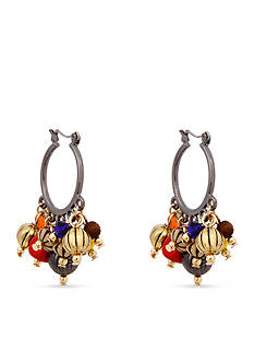 Erica Lyons Hematite -Tone Queen of De Nile Hoop Earrings