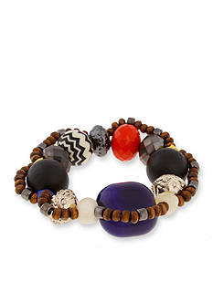 Erica Lyons Gold-Tone Queen of De Nile Large Stretch Bracelet