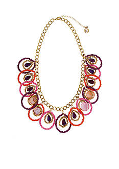 Erica Lyons Gold-Tone Back to the Fuchsia Statement Necklace