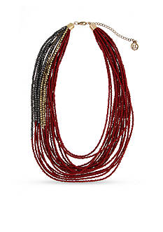 Erica Lyons Gold-Tone You Had Me At Merlot Short Multistrand Necklace