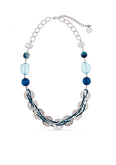 Erica Lyons Silver-Tone Indigo Girls Strand Necklace
