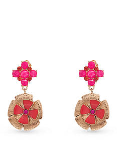 Erica Lyons Back to the Fuchsia Drop Clip Earrings