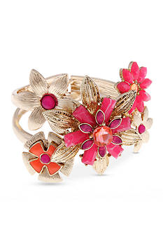 Erica Lyons Gold-Tone Back to the Fuchsia Bangle Bracelet