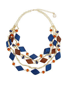 Erica Lyons Gold-Tone Chambray'd Multistrand Necklace