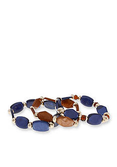 Erica Lyons Gold-Tone Chambray'd 3-Piece Stretch Bracelet