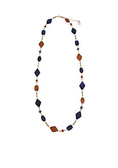 Erica Lyons Gold-Tone Chambray'd Beaded Strand Necklace
