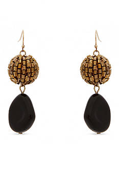 Erica Lyons Gold-Tone Welcome to the Jungle Double Drop Earrings