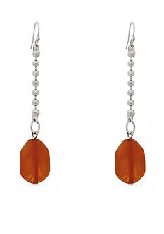 Erica Lyons Silver -Tone Orange You Glad Linear Earrings
