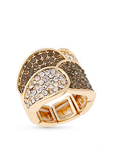 Erica Lyons Gold-Tone Overlapping Petals Fashion Stretch Ring
