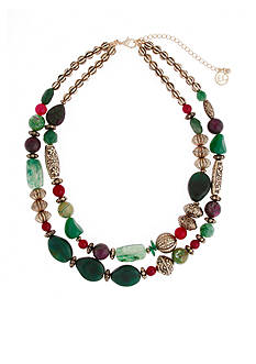 Erica Lyons Gold-Tone Just Jaded Double Strand Necklace
