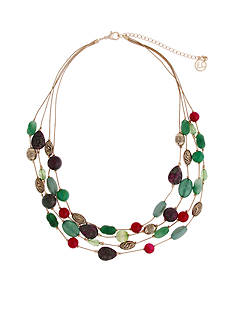 Erica Lyons Gold-Tone Just Jaded Illusion Necklace