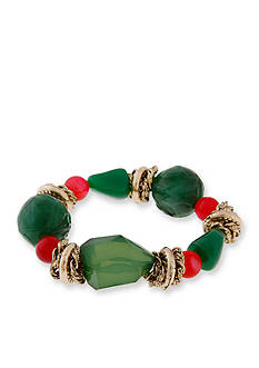 Erica Lyons Gold-Tone Just Jaded Large Bead Stretch Bracelet