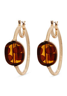 Erica Lyons Gold-Tone Tortally Reinvented Hoop Earrings