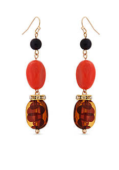 Erica Lyons Gold-tone Tortally Reinvented Triple Drop Earrings