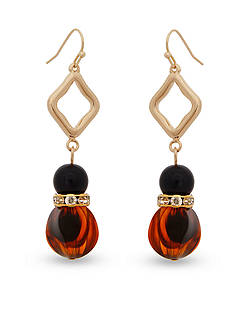 Erica Lyons Gold-Tone Tortally Reinvented Double Drop Earrings