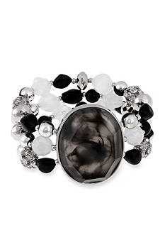 Erica Lyons Silver-Tone Dark and Stormy Multistrand Stretch Bracelet