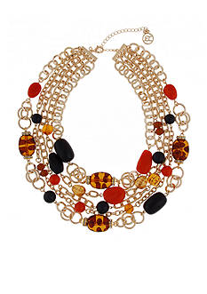 Erica Lyons Gold-Tone Tortally Reinvented Multistrand Necklace