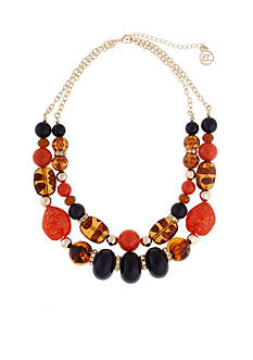 Erica Lyons Gold-Tone Tortally Reinvented Collar Necklace