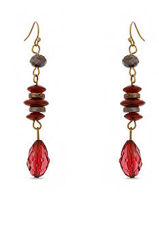 Erica Lyons Gold-Tone You Had Me At Merlot Linear Earrings