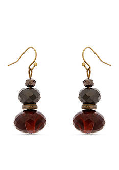 Erica Lyons Gold-Tone You Had Me At Merlot Stacked Drop Earrings
