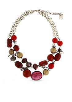Erica Lyons Gold-Tone You Had Me At Merlot Layered Necklace