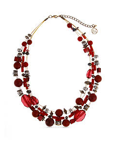Erica Lyons Gold-tone You Had Me At Merlot Short Illusion Necklace