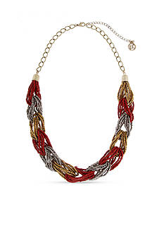 Erica Lyons Gold-Tone You Had Me At Merlot Chain Necklace