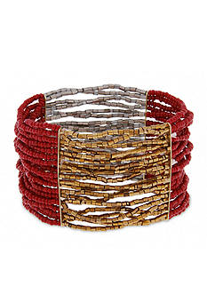 Erica Lyons Gold-Tone You Had Me At Merlot 5-Piece Stretch Bracelet Set