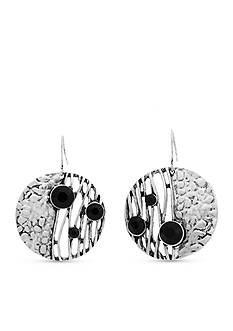 Erica Lyons Silver-Tone Animal House Drop Circle Earrings