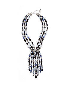 Erica Lyons Silver-Tone You're So Sapphire Dramatic Y Necklace