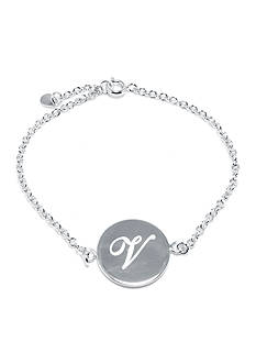Belk Silverworks Fine Silver Plated Initial Chain Bracelet