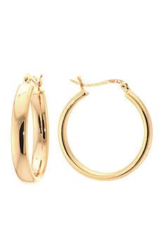 Belk Silverworks 24K Gold Plated Tube Hoop Earring