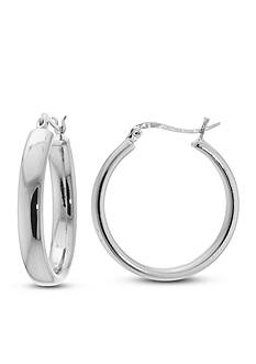 Belk Silverworks Fine Silver Plated Hoop Earrings