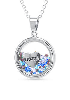 Belk Silverworks Fine Silver Plated Family Pendant Necklace