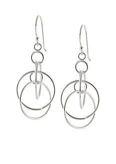 Belk Silverworks Fine Silver Plated Multi Circle Drop Earrings