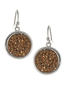 Belk Silverworks Champagne Pave Crystal Drop Earrings