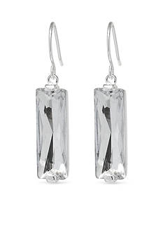 Belk Silverworks Long Rectangle Drop Earrings