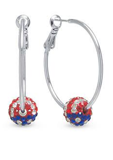 Belk Silverworks Fine Silver Plated Clutchless Hoop Earrings